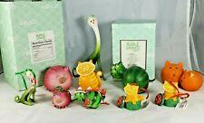 Kawaii Enesco Home Grown Collectibles Figurines Veggies Fruit Ornaments Cat Lot