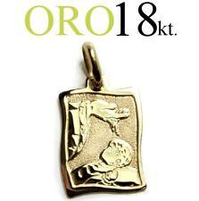 medaglia ciondolo RICORDO BATTESIMO oro giallo 18kt. 750/1000 regalo NASCITA