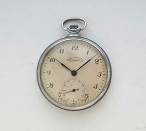 KRISTAL Vintage Soviet Russian mechanical pocket watch. USSR