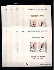 / 10X MONACO - MNH - SPORTS - SOCCER - MEXICO 1986