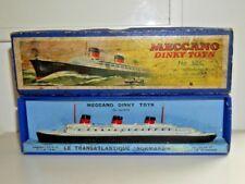 DINKY TOYS 52 C LA NORMANDIE TRANSATLANTIQUE PAQUEBOT NAVIRE 1935-1940 BOXED-RARE B877