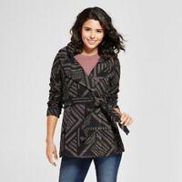 Xhilaration Women's Faux Wool Outerwear Coat Winter Size Medium Charcoal Heather