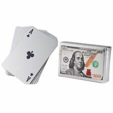 Waterproof Playing Cards, 2 Standard Decks of Silver Foil Plastic Poker Cards
