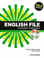 ENGLISH FILE Intermediate Third Ed Student Book w iTutor & iChecker DVD-ROM @New
