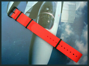 NATO ® nylon watch strap band Coast Guard Orange 20mm 22mm g10 PVD RAF IW SUISSE