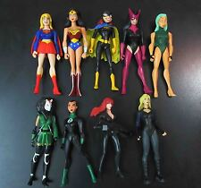 "LOT OF 9 DC UNIVERSE YOUNG JUSTICE JLU ACTION FIGURE supergirl batgirl .. 4"" #n5"