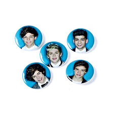 ONE DIRECTION 1D BUTTON BADGE PACK OF 5 Louis Zayn Harry Liam Niall BADGES
