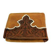 Montana West Men's Wallet Genuine Tooled Leather Western Cowboy Bi-Fold Wallet