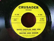 MINT/M- ORIG PRESS MOD TEEN 45~WAYNE and DWAIN~SAND CASTLES YOU/SKI SURFIN