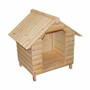 Hundehaus Hundehütte Massivholz Hunde Haustierhütte Hundehöhle Tierhaus Holz Neu