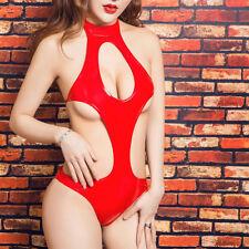 Sexy Metallic Shiny Backless One Piece Swimwear Swimsuit Beachwear for Women