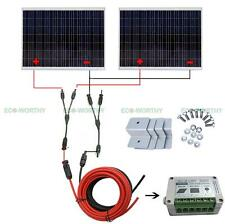 500W 24V Off Grid System 2PCS 250W Solar Panel w/ Controller for Camper Home RV