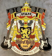 Hard Rock Cafe BRUSSELS 2012 Grand Opening STAFF Silver PIN - LE 150 HRC #68598