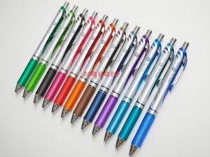 12 Colors Set x Pentel EnerGel Ener Gel 0.7mm Silver Body Rollerball Ink Pen
