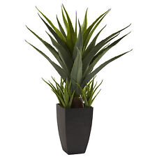 NEW AGAVE HOUSEPLANT FAUX ARTIFICIAL GREEN SUCCULENT ORNAMENTAL NEARLY NATURAL