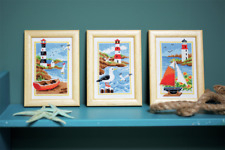 Vervaco -  Cross Stitch Kit Miniatures - Lighthouse  (Set of 3) - PN-0158159