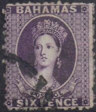 Bahamas 1863 6d Deep violet Victoria (1840-1901) sg 31 Used