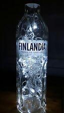 Unique FINLANDIA Vodka OF FINLAND  LED Glass Bottle Lamp Light Upcycled Gift
