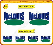 Adesivi stickers camper McLOUIS  kit completo di 6 adesivi - Cod.0053