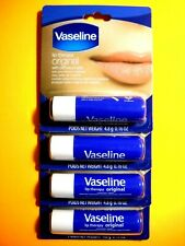 Lot of 4 - Vaseline Original Lip Balm with Petroleum Jelly 4.8g 0.16 Oz New