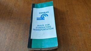 CONRAIL 1968 RULES FOR CONDUCTING TRANSPORTATION Railroad Train