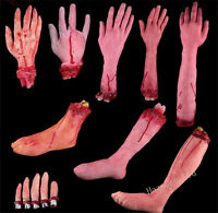 Severed Scary Cut Off Bloody Fake Latex Lifesize Arm Hand Halloween Prop