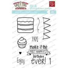 HAPPIEST BIRTHDAY STAMP-The Greeting Farm Clear Art/Acrylic-Stamping Craft