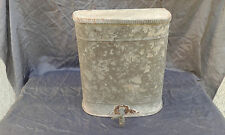 Antique Primitive Old Handmade Tin Portable Sink Water Basin.