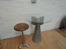 Industrial Cast Iron & Teak Stools Made From Reclaimed Materials Code15217