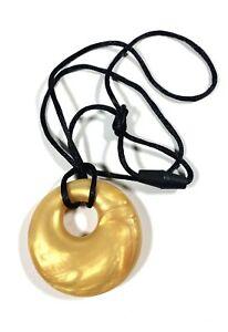 Lil Jumbl Baby Teether Pendant (PT001) Metallic Yellow