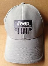JEEP BASEBALL CAP HAT, GRAY, FITTED SIZE MEDIUM - LARGE, GENUINE