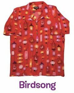 Shag Tiki Week Birdsong Hawaiian Aloha Shirt sz Large LE 100% Silk