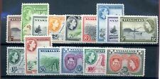 Nyasaland 1953 defin set fine MNH