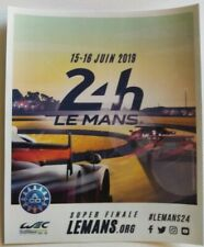 2019 Le Mans 24 Hours Official Sticker Brand New unsigned