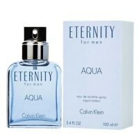 Eternity Aqua by Calvin Klein 3.3 / 3.4 oz EDT Cologne for Men New In Box