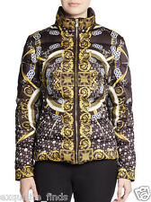 New VERSACE Collection Scarf-Print Down Feather Puffer Jacket 46 - 10