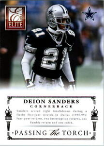 2013 Elite Passing the Torch Silver Card #11 Deion Sanders/Morris Claiborne