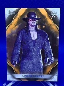 2019 Topps WWE Undisputed Undertaker 04/99 Orange Parallel