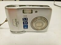 Nikon COOLPIX L3 5.1MP Digital Camera - Silver No Batteries Untested As Is