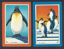 #950.115 vintage swap card -EXC pair- Penguins
