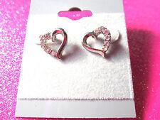 Crystal Open Heart Stud Earrings