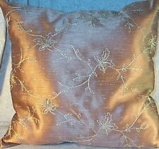 "Home Decor' Pillow Gold / Bronze Size 18"" inch Leaves Leafs NEW"