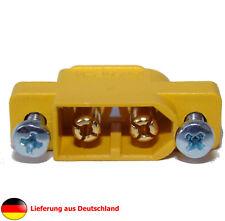 3er Pack-XT-60 Stecker von AMASS® für Gehäusemontage inkl. Befestigungsschrauben