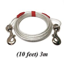 Tie Out Cable Lead Leash Collar For Dog Pet Puppy / Metal Steel Spiral Pole