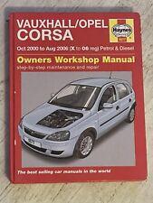 Haynes Manual 5577 - Vauxhall/Opel Corsa, 2000 to 2006, petrol & diesel