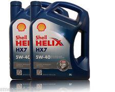Shell Helix HX7 5W-40 Motoröl 2x5  Liter ACEA A3/B4 MB 229.3 VW 502.00 Fiat