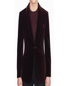 Men Burgundy Smoking Jackets Blazer Coat Elegant Luxury Designer Party Wear