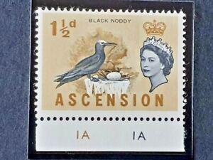 ASCENSION SG 71a Cobalt Omitted. MM [Hinge Remnant] 1963 ERROR VARIETY PLATE
