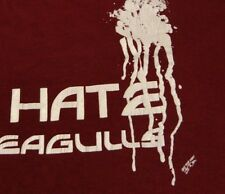Vintage 1980's I Hate Seagulls Distressed Soft 50/50 Cotton Poly T Shirt Small