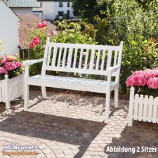 Gartenbank, Landhausbank, Blome Hohenzollern 2-Sitzer weiß, Metall-Profilträger